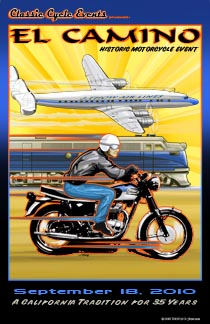 El Camino Historic Motorcycle Event event poster